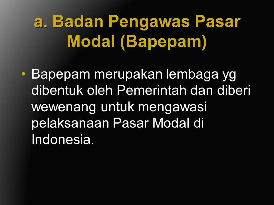 a. Badan Pengawas Pasar Modal (Bapepam)