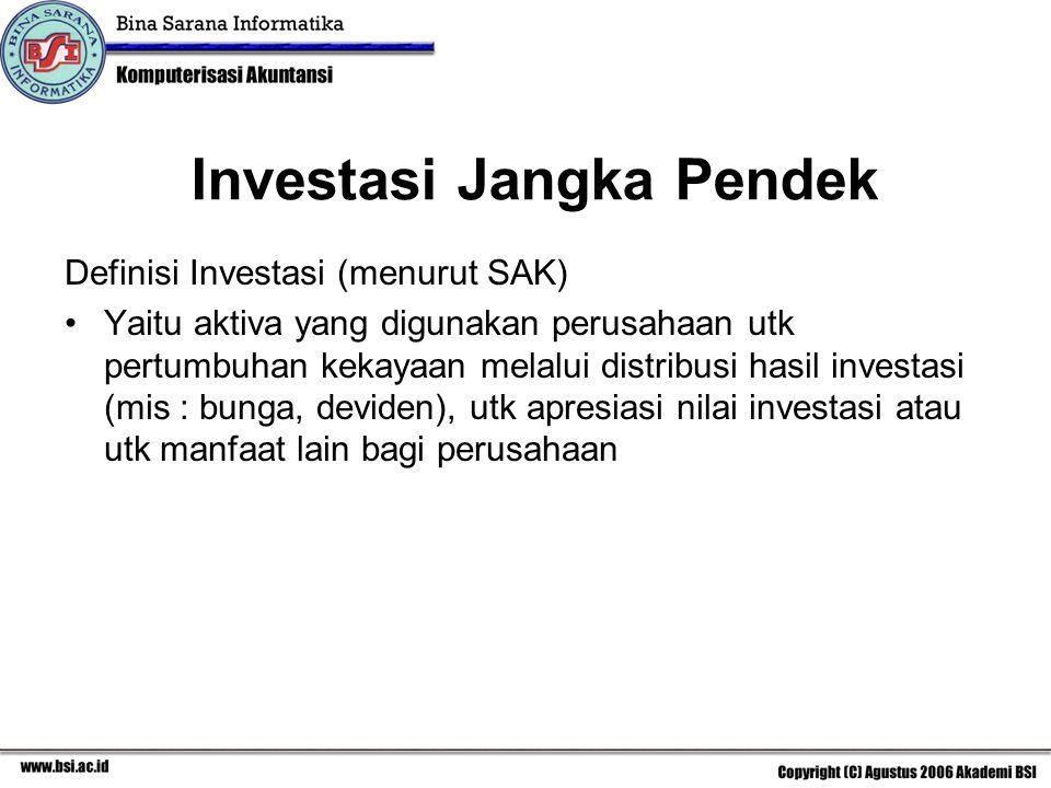 Investasi Jangka Pendek