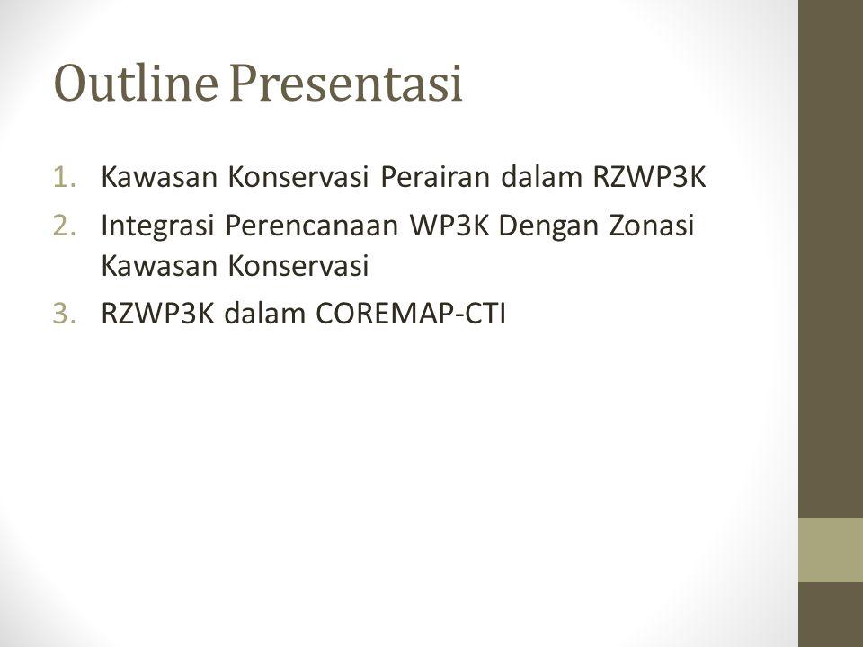 Outline Presentasi Kawasan Konservasi Perairan dalam RZWP3K