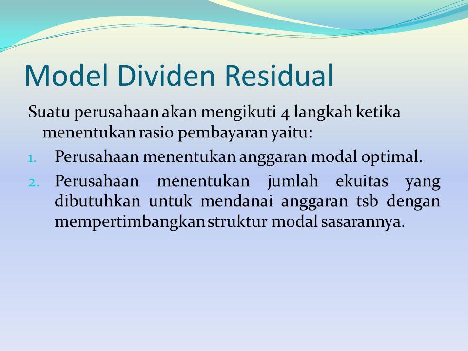 Model Dividen Residual