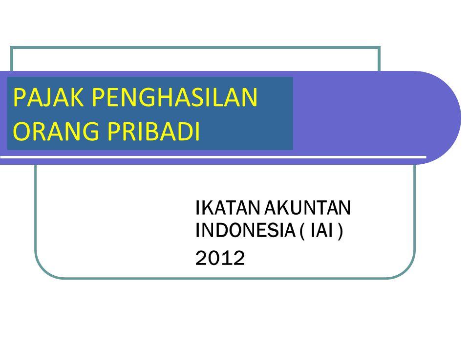IKATAN AKUNTAN INDONESIA ( IAI ) 2012