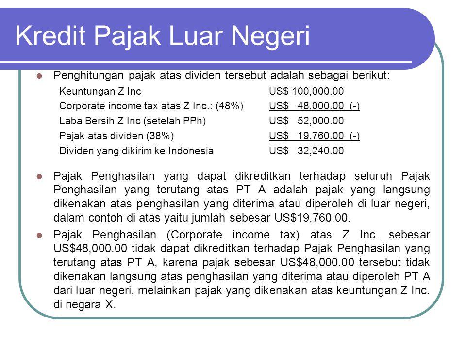 Kredit Pajak Luar Negeri