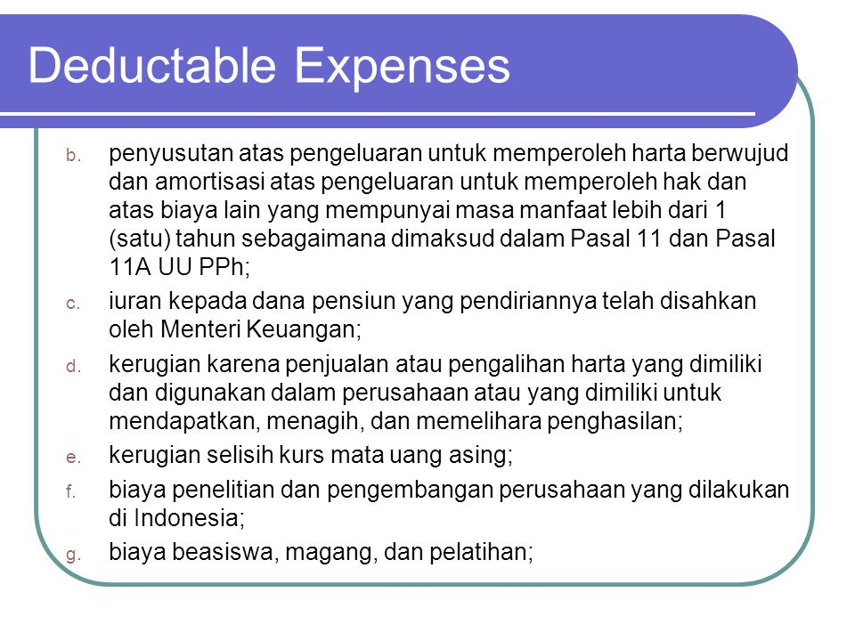 Deductable Expenses