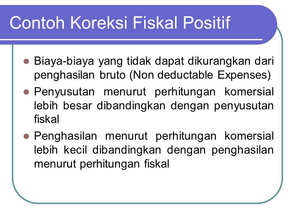 Contoh Koreksi Fiskal Positif