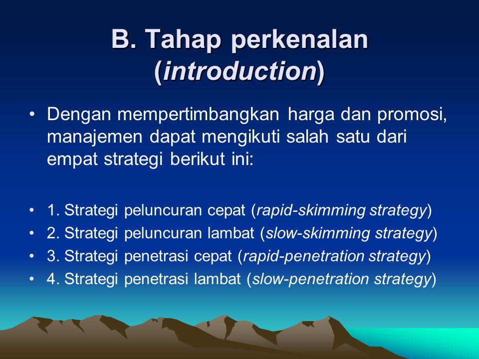 B. Tahap perkenalan (introduction)