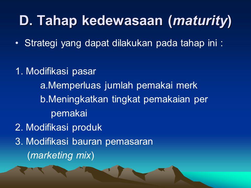 D. Tahap kedewasaan (maturity)