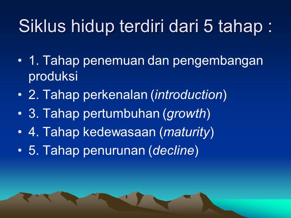 Siklus hidup terdiri dari 5 tahap :