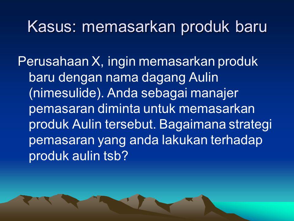Kasus: memasarkan produk baru
