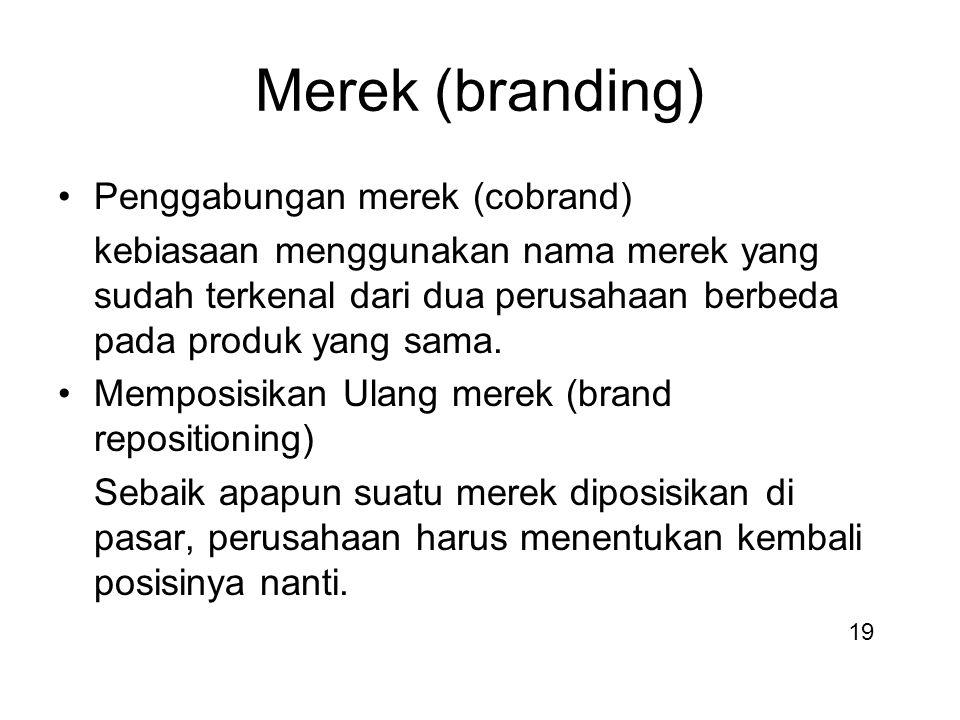 Merek (branding) Penggabungan merek (cobrand)