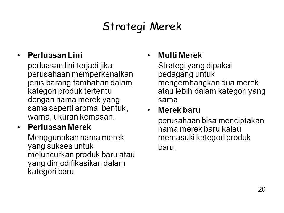 Strategi Merek Perluasan Lini