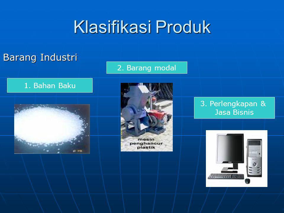 Klasifikasi Produk Barang Industri 2. Barang modal 1. Bahan Baku