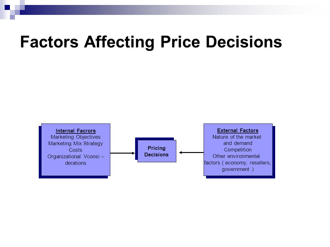 Factors Affecting Price Decisions