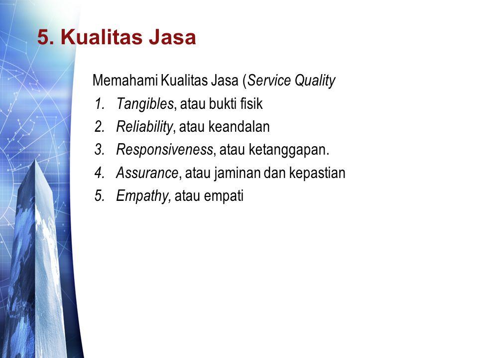5. Kualitas Jasa Memahami Kualitas Jasa (Service Quality