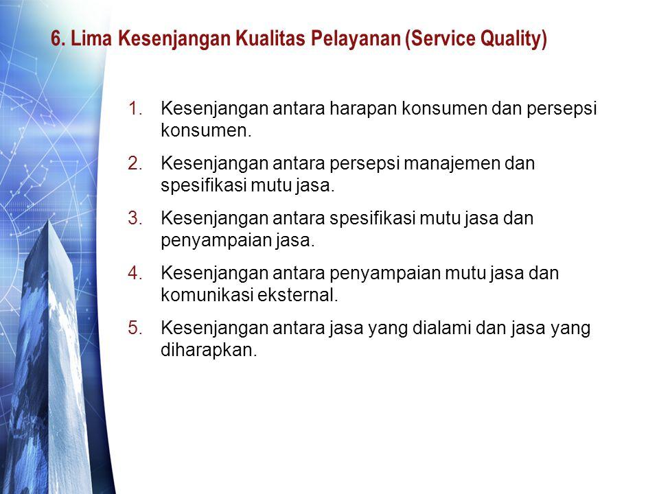 6. Lima Kesenjangan Kualitas Pelayanan (Service Quality)