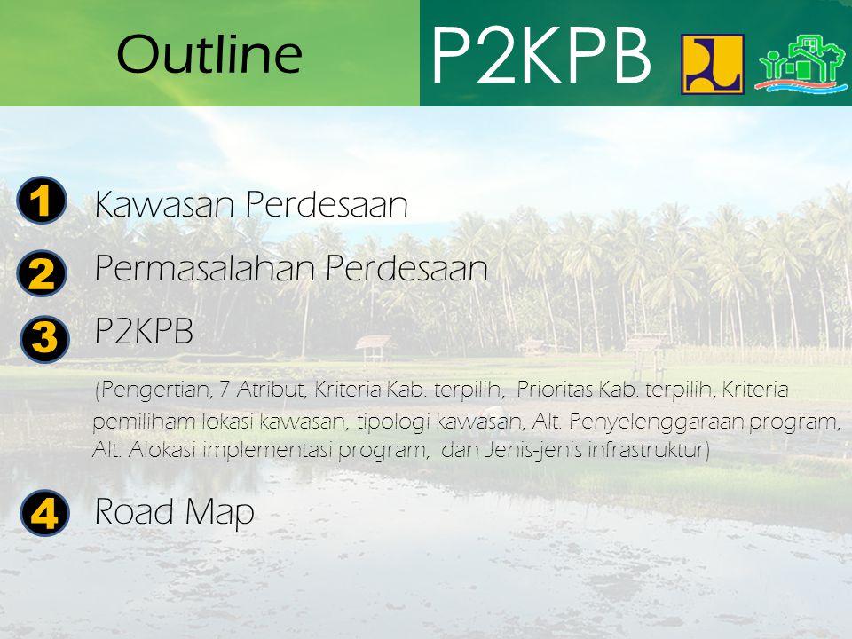 P2KPB Outline 1 2 3 4 Kawasan Perdesaan Permasalahan Perdesaan P2KPB