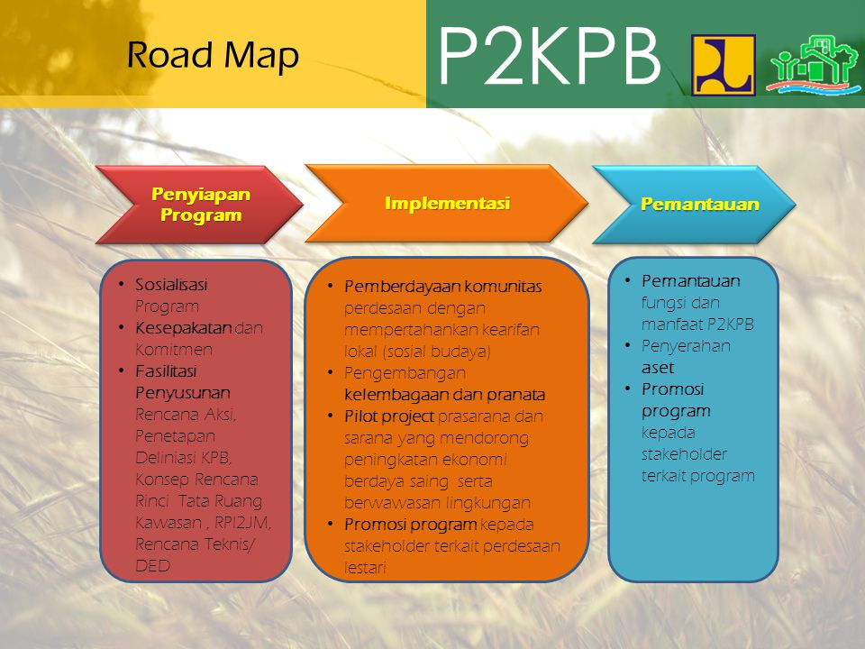 P2KPB Road Map Penyiapan Program Implementasi Pemantauan