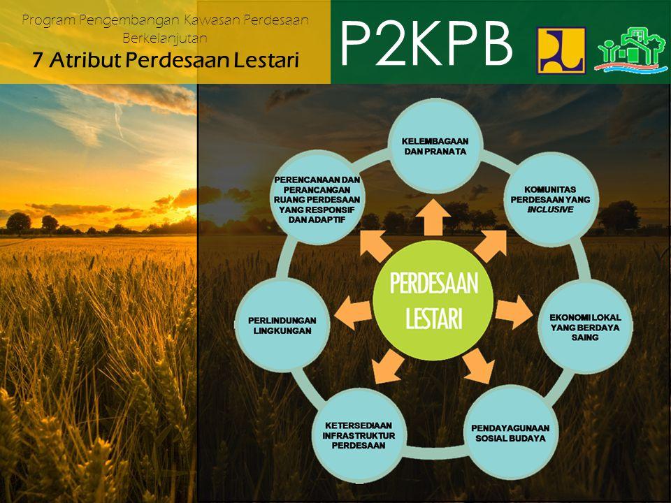 P2KPB Program Pengembangan Kawasan Perdesaan Berkelanjutan 7 Atribut Perdesaan Lestari