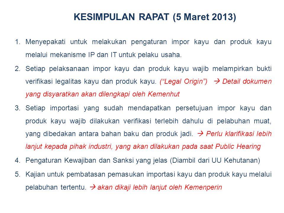 KESIMPULAN RAPAT (5 Maret 2013)