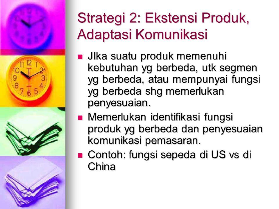 Strategi 2: Ekstensi Produk, Adaptasi Komunikasi