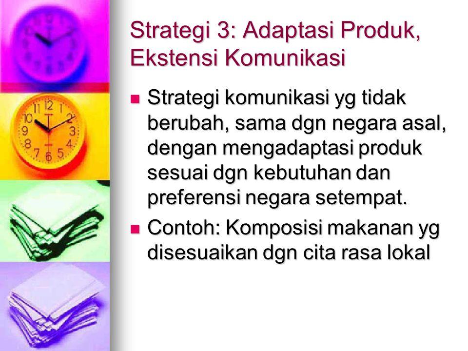 Strategi 3: Adaptasi Produk, Ekstensi Komunikasi