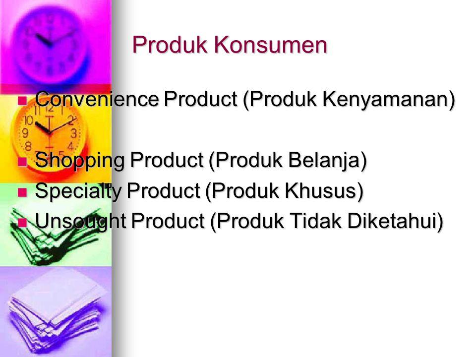 Produk Konsumen Convenience Product (Produk Kenyamanan)
