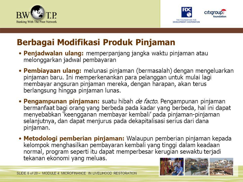 Berbagai Modifikasi Produk Pinjaman