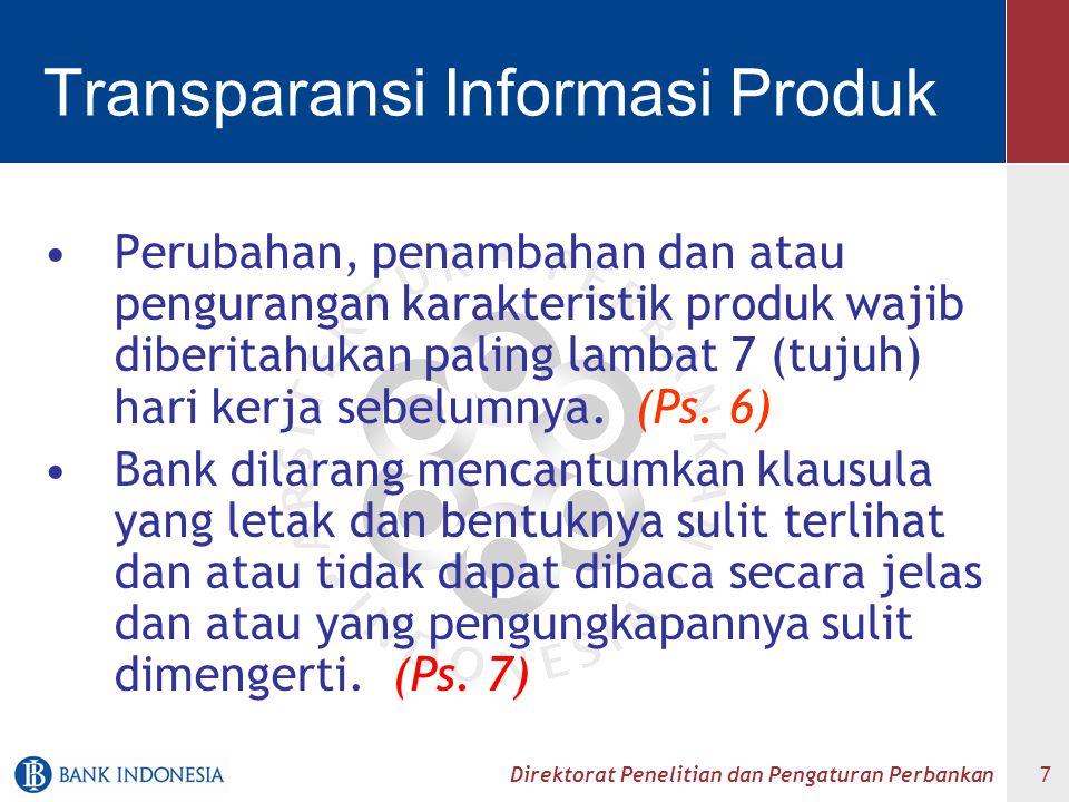 Transparansi Informasi Produk
