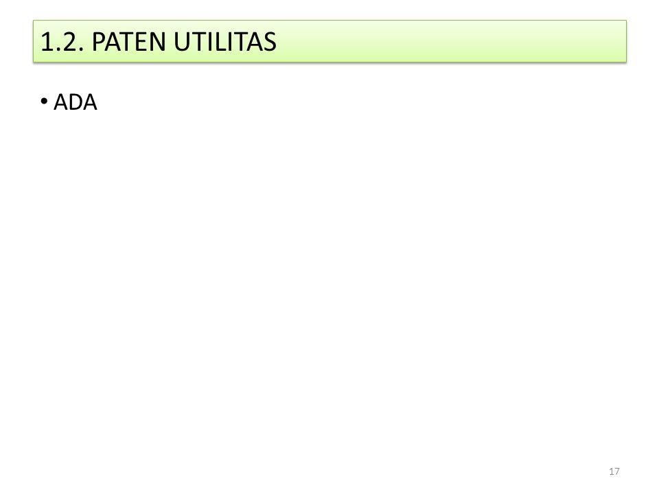 1.2. PATEN UTILITAS ADA