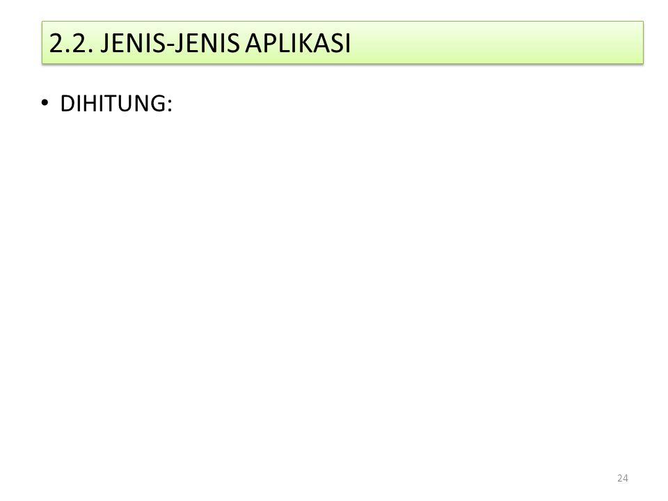 2.2. JENIS-JENIS APLIKASI DIHITUNG:
