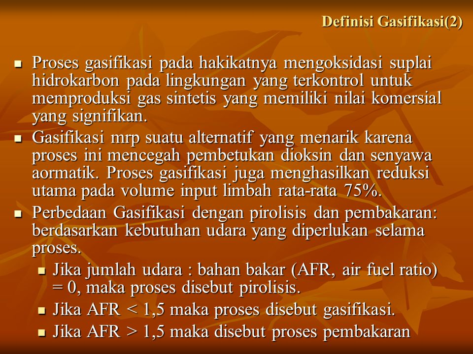 Definisi Gasifikasi(2)