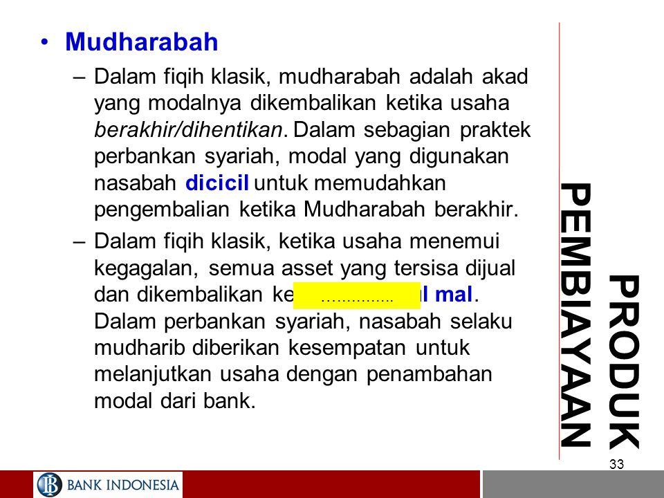 PRODUK PEMBIAYAAN Mudharabah