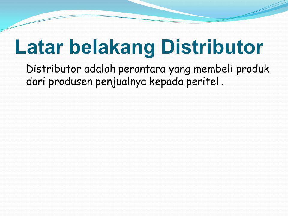 Latar belakang Distributor