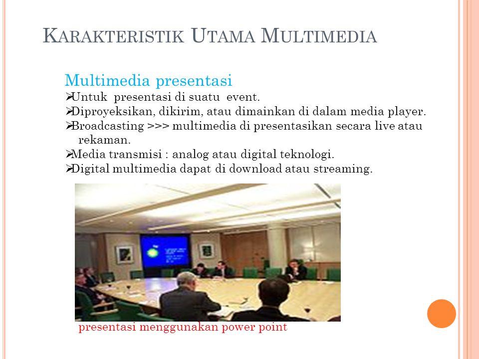 Karakteristik Utama Multimedia