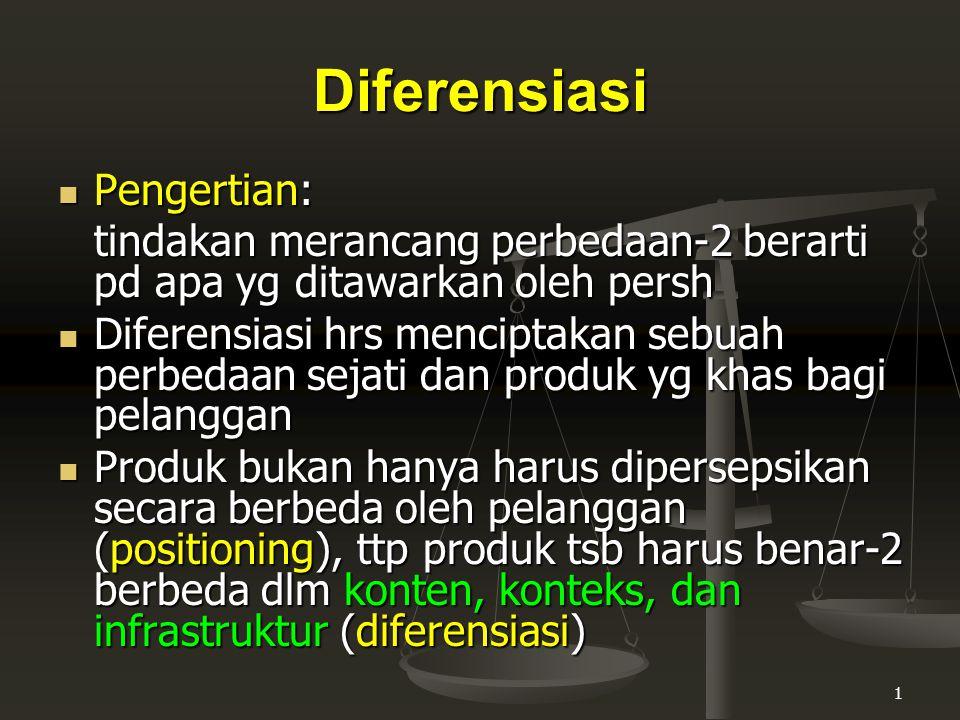 Diferensiasi Pengertian: