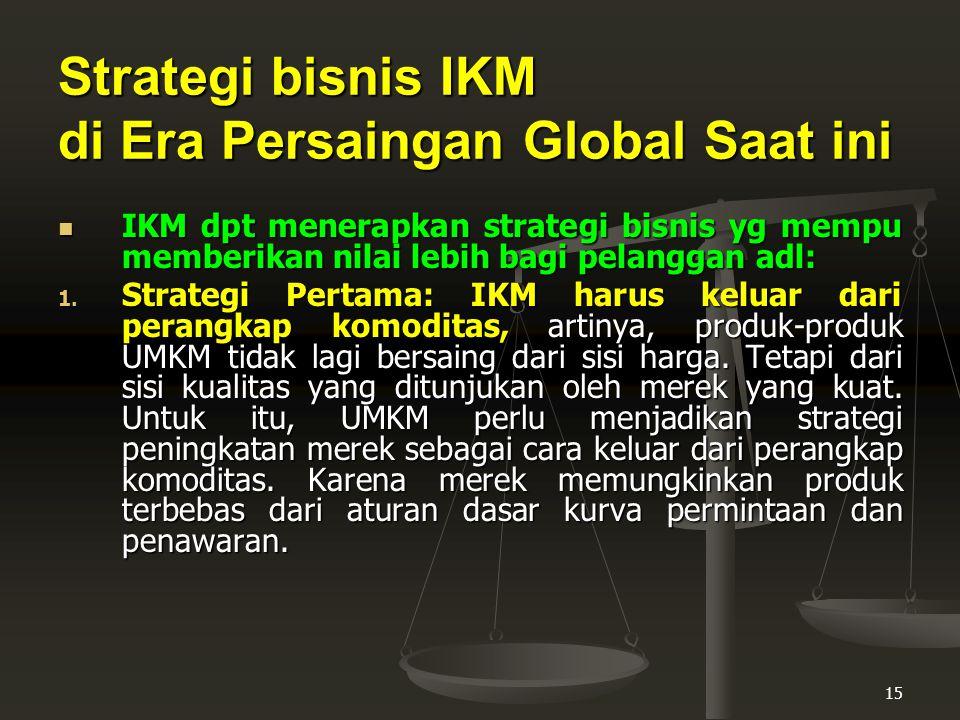 Strategi bisnis IKM di Era Persaingan Global Saat ini