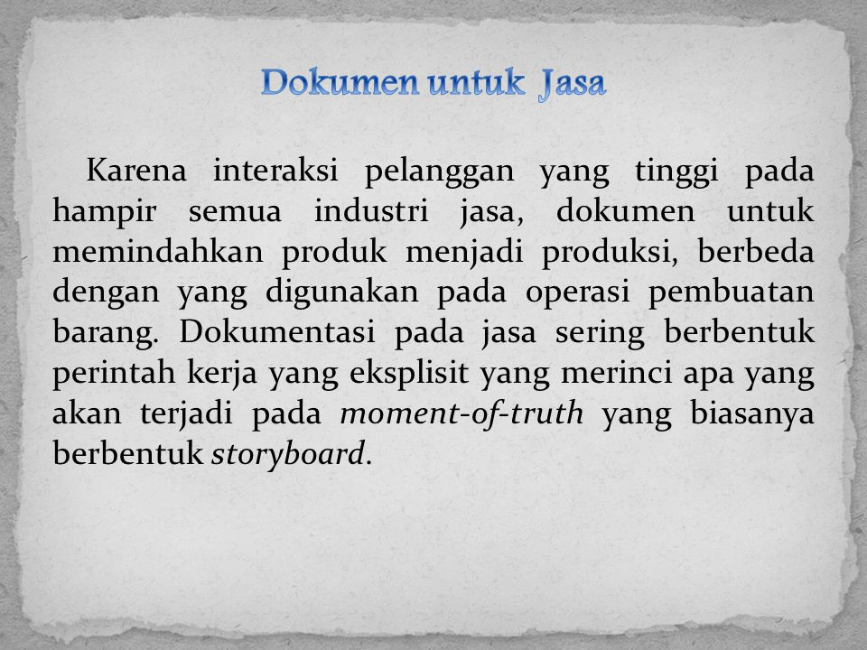 Dokumen untuk Jasa