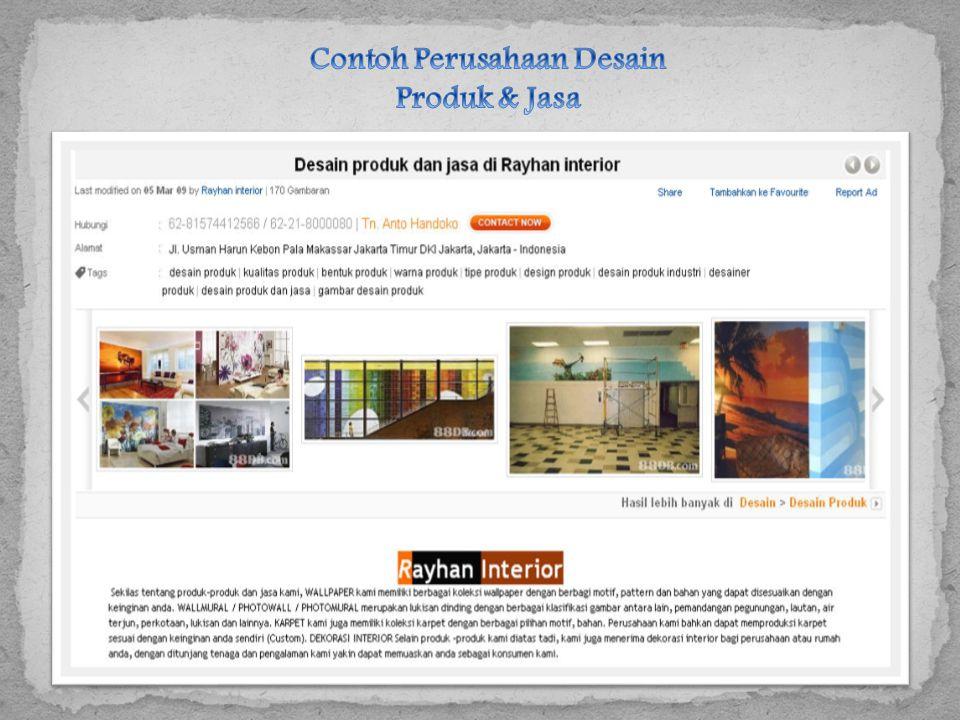 Contoh Perusahaan Desain Produk & Jasa