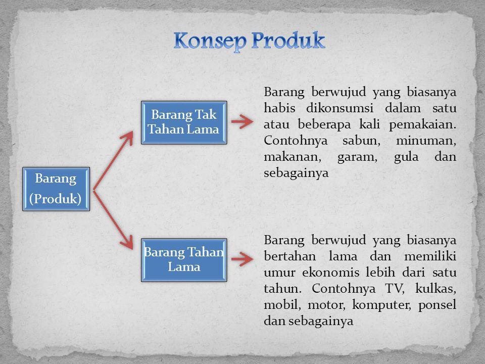Konsep Produk Barang Tak Tahan Lama Barang Barang Tahan Lama (Produk)