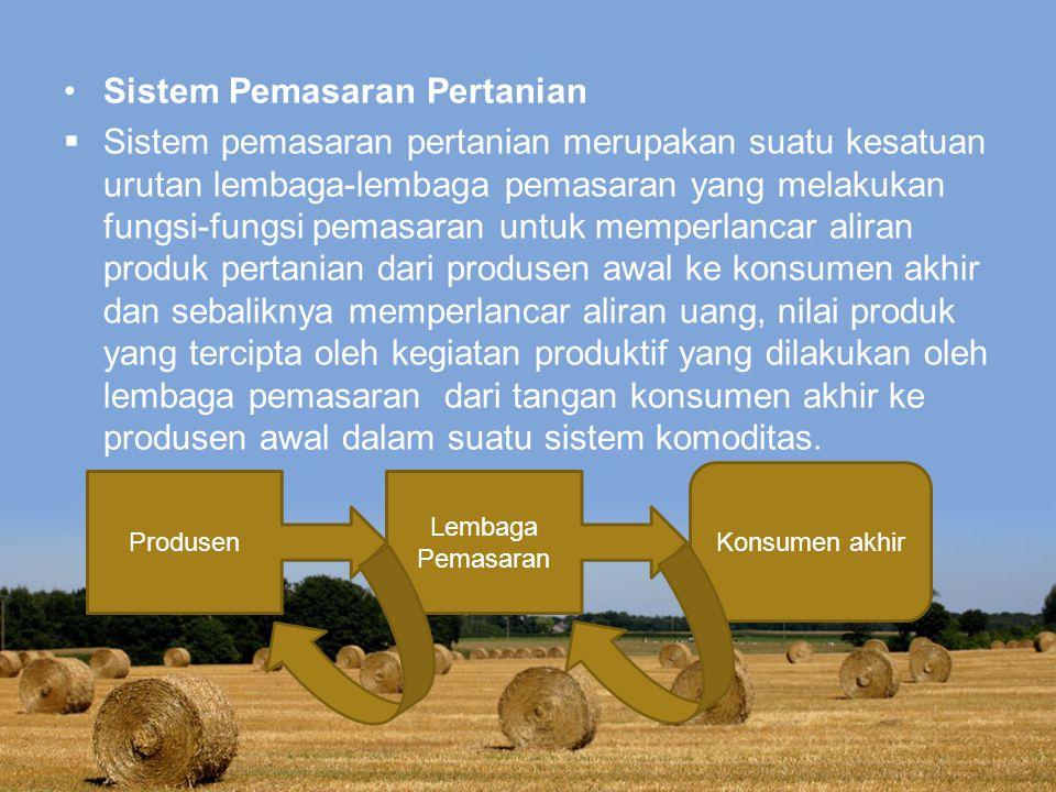 Sistem Pemasaran Pertanian