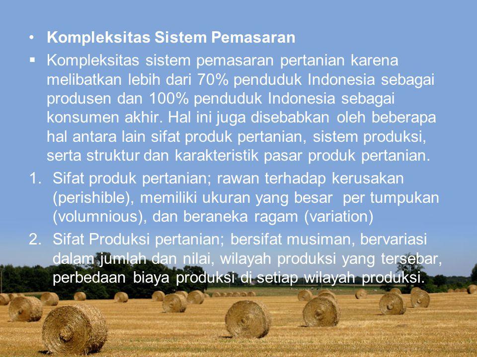 Kompleksitas Sistem Pemasaran