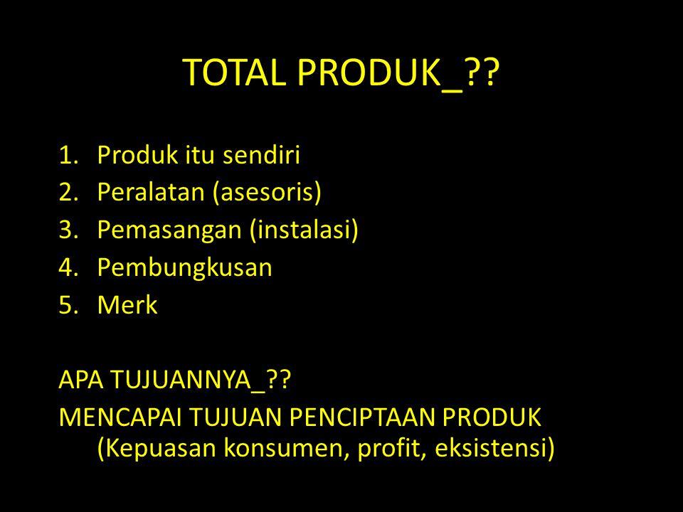 TOTAL PRODUK_ Produk itu sendiri Peralatan (asesoris)