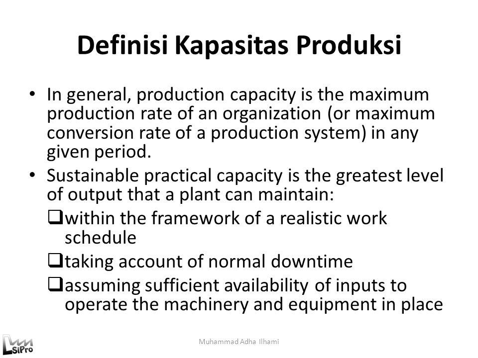 Definisi Kapasitas Produksi