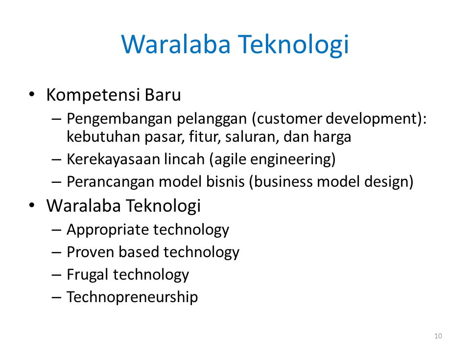 Waralaba Teknologi Kompetensi Baru Waralaba Teknologi