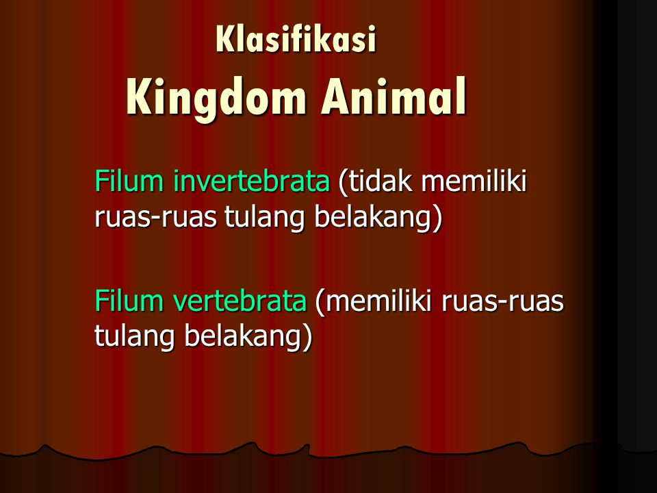 Klasifikasi Kingdom Animal