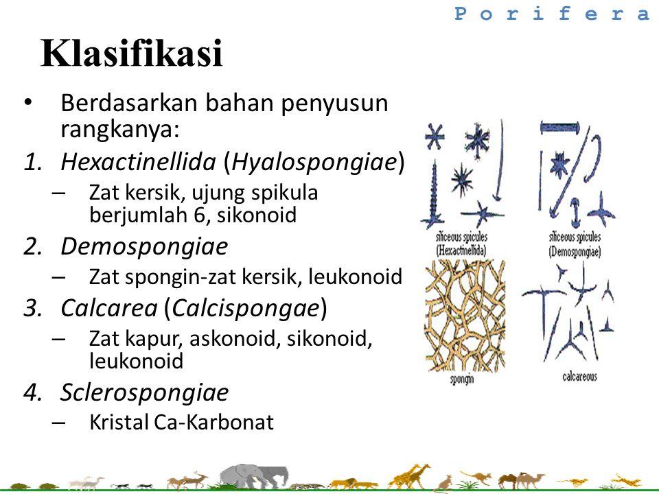 Klasifikasi Berdasarkan bahan penyusun rangkanya: