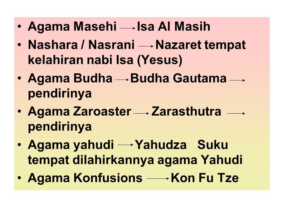 Agama Masehi Isa Al Masih