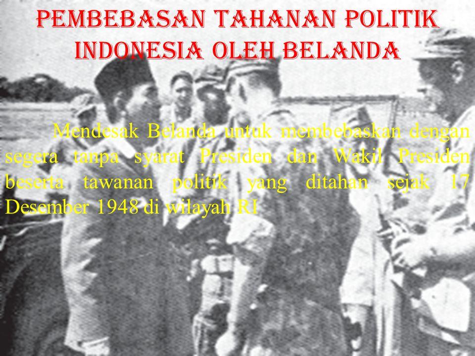 pembebasan tahanan politik Indonesia oleh Belanda