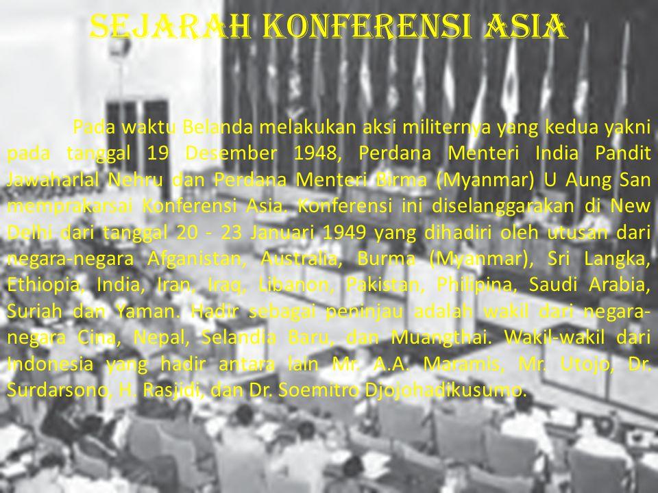 Sejarah konferensi asia