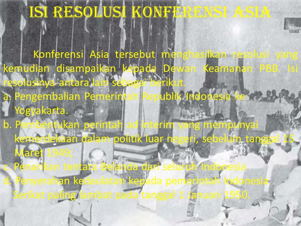 Isi Resolusi konferensi asia