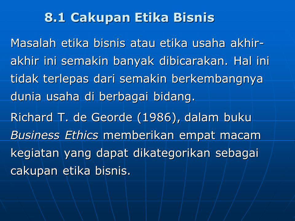 8.1 Cakupan Etika Bisnis